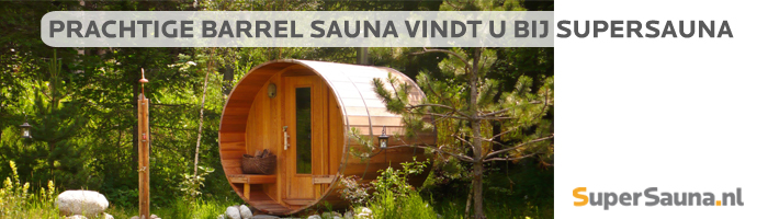 Barrel Sauna van SuperSauna