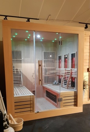 INFRAROOD SAUNA 170 SOHO 'ALL-IN-ONE' HEATER  (Showroom model Vlierden)