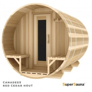 BUITENSAUNA BARREL SAUNA 301 RED CEDAR (TIP!)